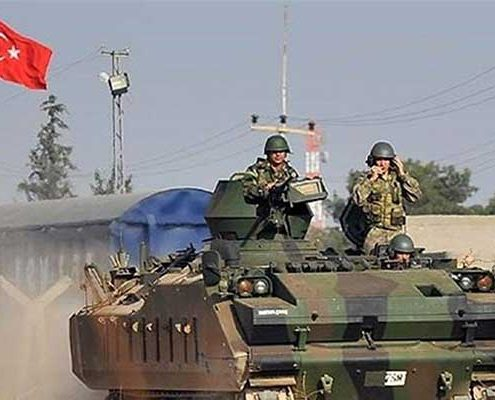 استقرار نیروهای نطامی در مرز ترکیه